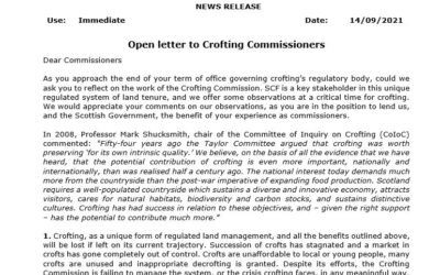 Open letter to Crofting Commissioners